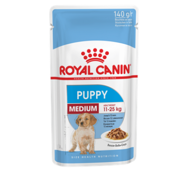 Royal Canin Medium Puppy šlapias ėdalas (140g. x 10vnt.)