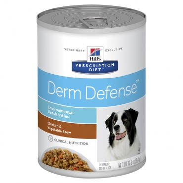 Hill's Prescription Diet™ Derm Defense™ Canine troškinys su Vištiena 354g