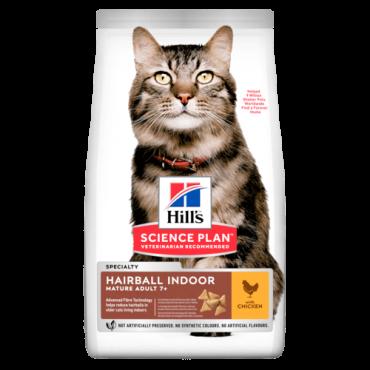 Hill's Feline Hairball & Indoor Senior with Chicken 1,5kg