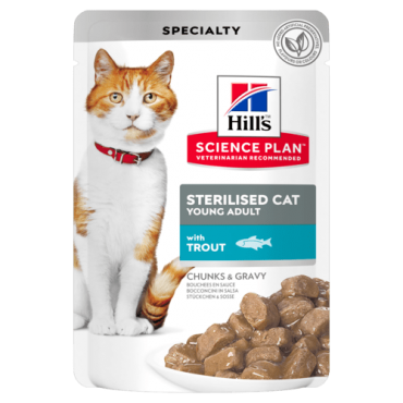 Hill's Feline Sterilised Young cat with Trout 12x85g