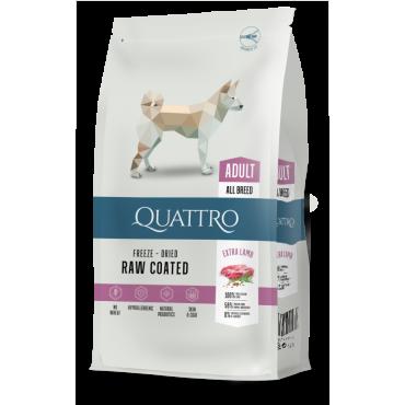 QUATTRO Premium suaugusiems visų veislių šunims su daug ėrienos.