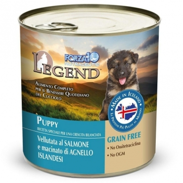 FORZA10 LEGEND PUPPY SALMON AND LAMB, 312g