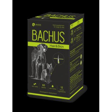 BACHUS Skin&Hair papildas kailiui ir odai 60 skanių tablečių