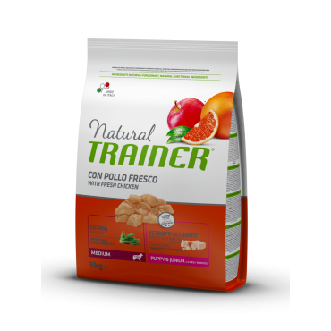 Trainer Natural PUPPY MEDIUM su Vištiena