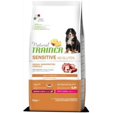 Natural Trainer Sensitive Puppy/Junior M/M No Gluten su Antiena