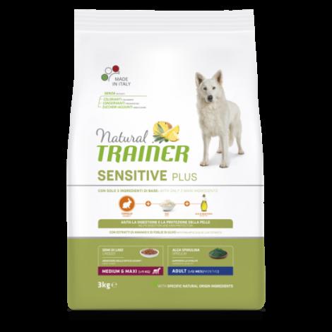 Natural Trainer DOG SENSITIVE PLUS ADULT M/M su  Triušiena