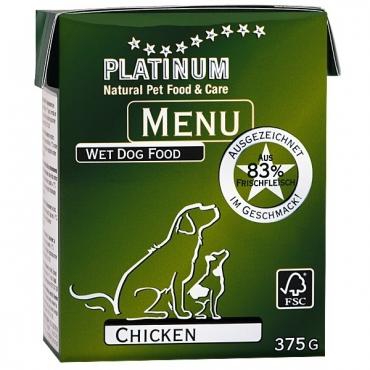 Platinum Menu konservai šunims su vištiena, 375 g