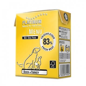 Platinum Menu konservai šunims su antiena ir kalakutiena, 375 g