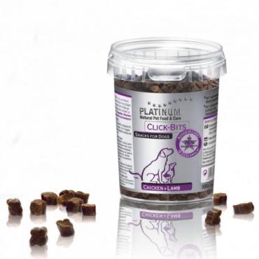 Platinum Click-Bits skanėstai šunims su vištiena ir ėriena, 300 g