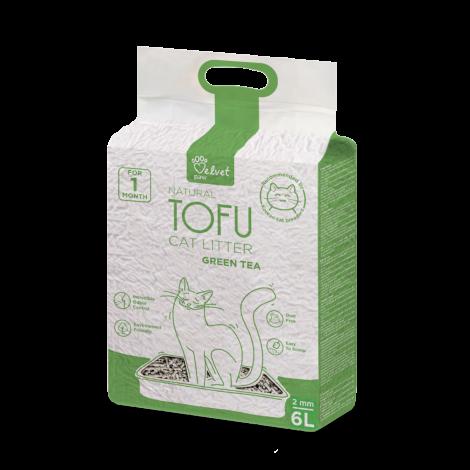 Velvet Paw Tofu kačių kraikas su žaliosios arbatos ekstraktu  6 l.