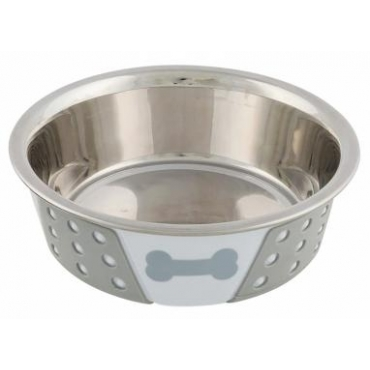 Trixie plieninis dubenėlis su silikonu, 0,75 l, 17 cm skersmens