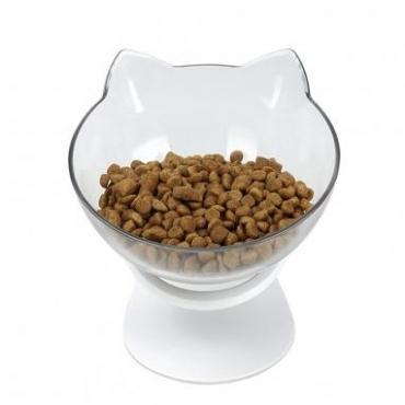 ELS PET kačių dubenėlis Katės forma, 350 ml, balta