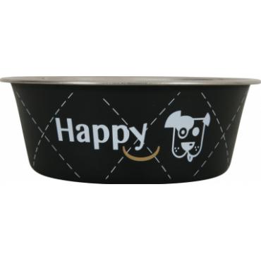 ZOLUX Dubenėlis šuniui Happy, metalinis, 400ml, juodas