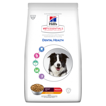 Hill's VET ESSENTIALS DENTAL HEALTH Adult Medium ėdalas šunims su vištiena