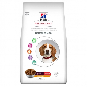 Hill's VET ESSENTIALS NEUTEREDDOG Adult Medium maistas šunims su vištiena