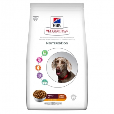 Hill's VET ESSENTIALS NEUTERED DOG Adult Large Breed maistas šunims su vištiena