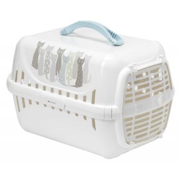 """Moderna Maasai transportavimo dėžė/""""boksas"""", baltos spalvos su pilkomis detalėmis,"""