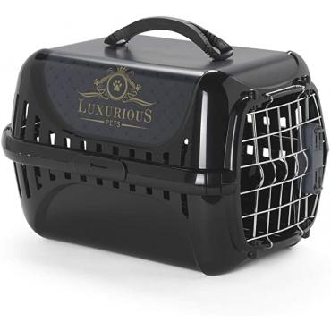 """Moderna Luxurious Pets transportavimo dėžė/""""boksas"""",  juodos sp."""