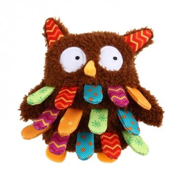 GIGWI Šunų žaislas Pelėda, pliušinis, rudas