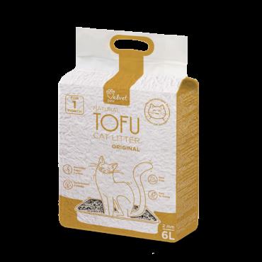 Velvet Paw Tofu kačių kraikas, originalus, 6vnt x 6 L