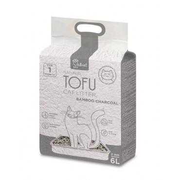 Velvet Paw Tofu kačių kraikas su bambuko anglimi, 6vnt x 6L