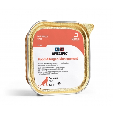 SPECIFIC FDW -elergija maistui  konservas katėms