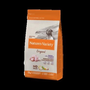Nature's Variety Original mažų veislių šunų maistas su kalakutiena