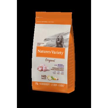 Natures Variety Original No Grain Medium/Maxi Turkey ( su kalakutiena )
