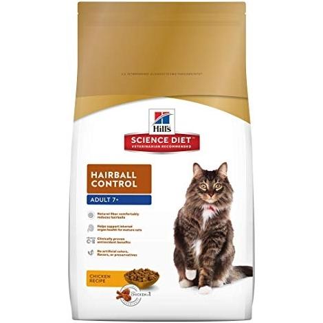 Hill's Science Plan Feline Hairball Senior Chicken, sausas maistas katėms