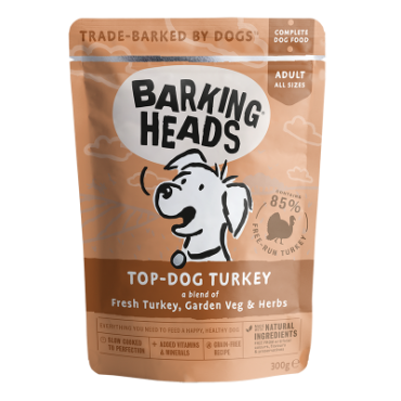 BARKING HEADS Top Dog Turkey kons. šunims su kalakutiena 300g