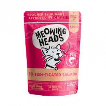 MEOWING HEADS So-Fish-Ticated Salmon konservai katėms (lašiša/vištiena/jautiena) 100g