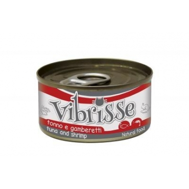 VIBRISSE konservai katėms su tunu ir krevetėmis padaže, 70g