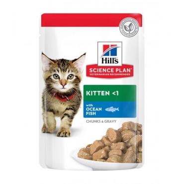 Hill's Science Plan Kitten Multipack Pouch Chicken&Ocean Fish guliašo rinkinys su vištiena ir žuvimi kačiukams