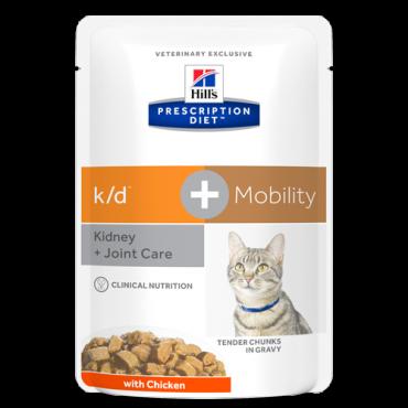 Prescription Diet™ k/d™+Mobility Feline su vištiena 12x85g