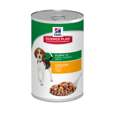 Hill's Science Plan Puppy Savoury Chicken konservai su vištiena šuniukams 370g