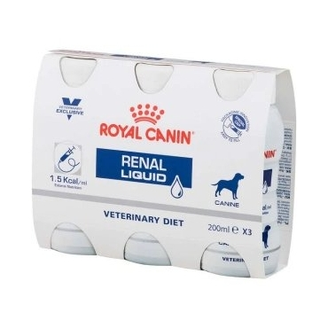 Royal Canin Renal Liquid Dog 3x200ml