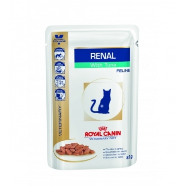 Royal Canin Feline Renal with tuna konservai (12x0,85g)