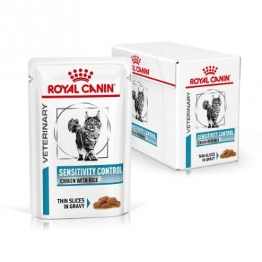 Royal Canin Feline Sensitivity Control Chicken & Rice konservai (12x100g)i