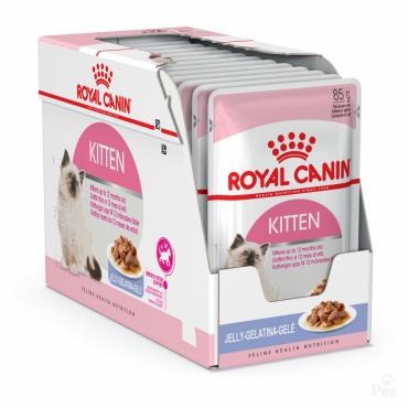 Royal Canin Kitten Instinctive šlapias ėdalas (gabaliukai drebučiuose) (85g. x 12pak.)