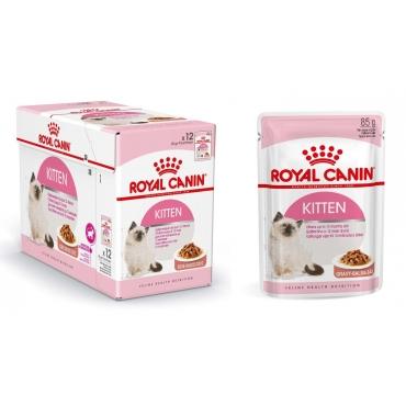 Royal Canin Kitten Instinctive šlapias ėdalas (gabaliukais savo sultyse) (85g x 12pak)