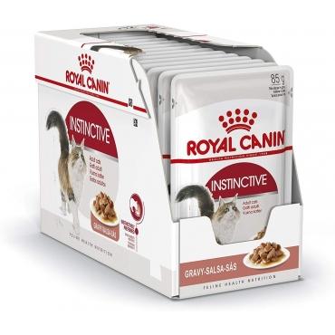 Royal Canin Adult Instinctive šlapias ėdalas (gabaliukai padaže) (85g. x 12pak.)