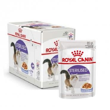 Royal Canin Sterilised šlapias ėdalas (gabaliukai drebučiuose) (85g. x 12pak.)
