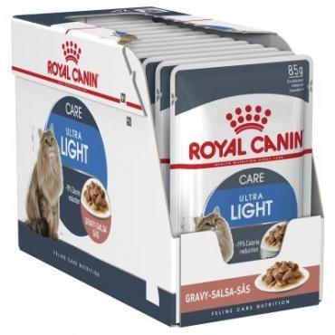 Royal Canin Adult Ultra Light šlapias ėdalas (gabaliukai padaže) (85g. x 12pak.)